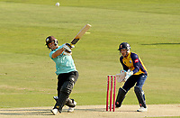 Laurie Evans of Surrey hits out during Essex Eagles vs Surrey, Vitality Blast T20 Cricket at The Cloudfm County Ground on 11th September 2020