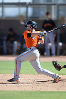 San Francisco Giants shortstop Christian Arroyo (22) at bat during an instructional league game against the Oakland Athletics on September 27, 2013 at Papago Park Baseball Complex in Phoenix, Arizona.  (Mike Janes/Four Seam Images)