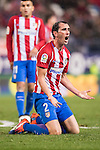 Diego Roberto Godin Leal of Atletico de Madrid reacts during the La Liga match between Atletico de Madrid and RCD Espanyol at the Vicente Calderón Stadium on 03 November 2016 in Madrid, Spain. Photo by Diego Gonzalez Souto / Power Sport Images