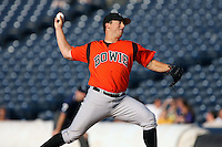 July 10th 2008:  Jason Berken of the Bowie Baysox, Class-AA affiliate of the Baltimore Orioles, during a game at Canal Park in Akron, OH.  Photo by:  Mike Janes/Four Seam Images