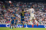Real Madrid's player Gareth Bale and Celta de Vigo's player Hugo Mallo during a match of La Liga Santander at Santiago Bernabeu Stadium in Madrid. August 27, Spain. 2016. (ALTERPHOTOS/BorjaB.Hojas)