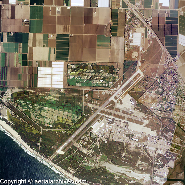 aerial photo map of Naval Air Station Point Mugu Ventura County California