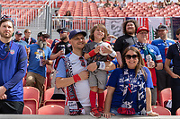 SANDY, UT - JUNE 10: Fans during a game between Costa Rica and USMNT at Rio Tinto Stadium on June 10, 2021 in Sandy, Utah.