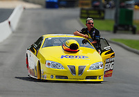 Jun. 18, 2011; Bristol, TN, USA: NHRA pro stock driver Rodger Brogdon during qualifying for the Thunder Valley Nationals at Bristol Dragway. Mandatory Credit: Mark J. Rebilas-