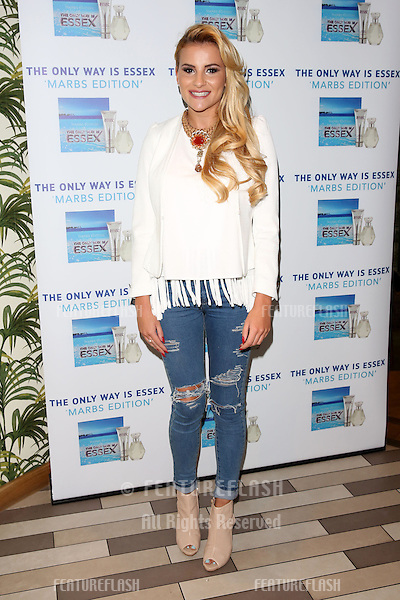 Georgia Kousoulou arriving for the TOWIE Fragrance launch, The Only Way is Essex stars launch their new perfume 'The Only Way is Marbs', London, England. 06/05/2015 Picture by: James Smith / Featureflash