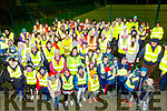 A very large group gathered at St Pats GAA club, Blennerville last Tuesday evening for the 2nd walk of the Ireland Lights Up series with Fiona Costello, centre front, about to give the safety brief before the walk got under way.