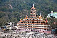 India, Rishikesh.  Tera Manzil Hindu Temple, holding numerous shrines to various Hindu gods.