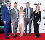 Rob Thomas, actors Jason Dohring , Kristen Bell, Ryan Hansen and Amanda Noret  attends The Warner Bros. L.A. Premiere of Veronica Mars Movie held at The TCL Chinese Theatre in Hollywood, California on March 12,2014                                                                               © 2014 Hollywood Press Agency