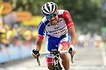 Thibaut Pinot (FRA) Groupama-FDJ finishes in 2nd place at the end of Stage 8 of the 2019 Tour de France running 200km from Macon to Saint-Etienne, France. 13th July 2019.<br /> Picture: ASO/Alex Broadway   Cyclefile<br /> All photos usage must carry mandatory copyright credit (© Cyclefile   ASO/Alex Broadway)