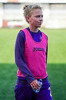 Anderlecht's Charlotte Tisson (20) pictured during the warm up before a female soccer game between the women teams of Zulte Waregem B Dames and RSC Anderlecht Ladies on the 1/16 th qualifying round for the Belgian Womens Cup 2020  2021 , on saturday 26 th of September 2020  in Zulte , Belgium . PHOTO SPORTPIX.BE | SPP | SEVIL OKTEM