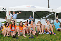 Fans enjoy the game from a cabana. FC Gold Pride defeated Sky Blue FC 1-0 during a Women's Professional Soccer (WPS) match at Yurcak Field in Piscataway, NJ, on May 1, 2010.