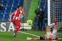 21st September 2021; Estadio Coliseum Alfonso Perez, Getafe,  Madrid, Spain; Men's La Liga, Getafe CF versus Atletico de Madrid; Suarez scores the winning goal in the last minute for Atletico de Madrid