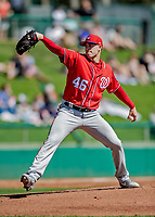 25 February 2019: Washington Nationals pitcher Patrick Corbin on the mound during a pre-season Spring Training game against the Atlanta Braves at Champion Stadium in the ESPN Wide World of Sports Complex in Kissimmee, Florida. The Braves defeated the Nationals 9-4 in Grapefruit League play in what will be the Braves' last season at the Disney / ESPN Wide World of Sports complex. Mandatory Credit: Ed Wolfstein Photo *** RAW (NEF) Image File Available ***