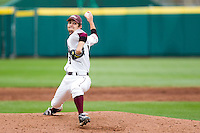 Clay Murphy (8) of the Missouri State Bears winds up during a game against the Oral Roberts Golden Eagles on March 27, 2011 at Hammons Field in Springfield, Missouri.  Photo By David Welker/Four Seam Images