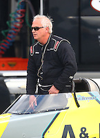 Feb 11, 2017; Pomona, CA, USA; NHRA top alcohol dragster driver Don St. Arnaud during the Winternationals at Auto Club Raceway at Pomona. Mandatory Credit: Mark J. Rebilas-USA TODAY Sports