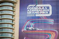 6th June 2021; F1 Grand Prix of Azerbaijan, Race Day;  Race banners during the Formula 1 Azerbaijan Grand Prix 2021 at the Baku City Circuit