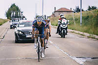 race leaders Nils Eekhoff (NED/Team Sunweb) and later winner Jonas Rickaert (BEL/Alpecin Fenix)<br /> <br /> Dwars Door Het Hageland 2020<br /> One Day Race: Aarschot – Diest 180km (UCI 1.1)<br /> Bingoal Cycling Cup 2020