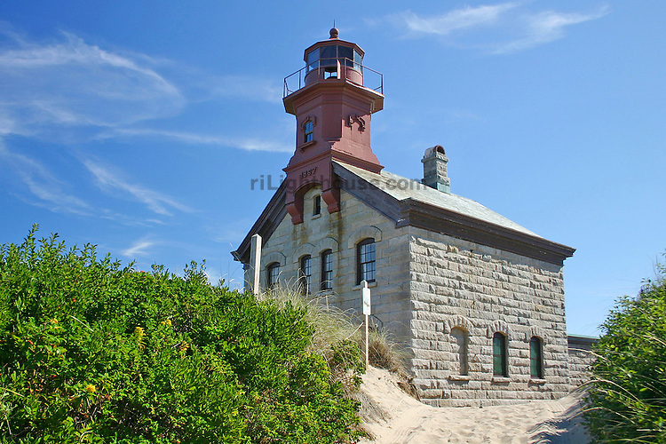 North Light rises out of the sand dunes on Block Island