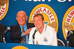 John Hall, Alan Shearer, 30/07/1997<br /> St James' Park. Shearer signs for Newcastle Utd. Photo by Tony Davis