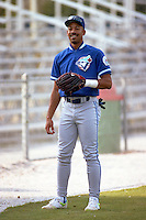 Derek Bell of the Dunedin Blue Jays during the 1992 season at Chain of Lakes Park in Winter Haven, Florida.  (MJA/Four Seam Images)