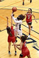 SAN ANTONIO, TX - NOVEMBER 25, 2020: The University of Texas at San Antonio Roadrunners defeat the Sul Ross State University Lobos 80-37 at the Historic UTSA Convocation Center (Photo by Jeff Huehn).
