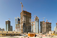 Dubai.  Construction of new apartment and office tower blocks at Jumeirah Lakes Towers..