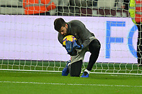 Alisson Becker of Liverpool during West Ham United vs Liverpool, Premier League Football at The London Stadium on 4th February 2019