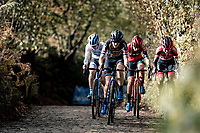 Lucinda Brand (NED/Telenet-Baloise Lions) leading the race up the infamous Koppenberg<br /> <br /> Koppenbergcross 2020 (BEL)<br /> women's race<br /> <br /> ©kramon