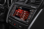 Stereo audio system close up detail view of a 2012 Mitsubishi Outlander Sport
