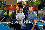 Enjoying the evening in the Listowel Playground on Monday, l to r: Kathleen, Colette, Kian and Jimmy Canty from Listowel.