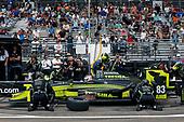 2017 Verizon IndyCar Series - Firestone Grand Prix of St. Petersburg<br /> St. Petersburg, FL USA<br /> Sunday 12 March 2017<br /> Charlie Kimball pit stop<br /> World Copyright:Sam Cobb/LAT Images<br /> ref: Digital Image cobb-stpete-170312-4349