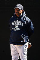 February 25, 2010:  Coach Tony Pena of the New York Yankees during practice at Legends Field in Tampa, FL.  Photo By Mike Janes/Four Seam Images