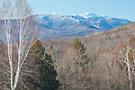 Late winter view of Mount Mansfield from Waterbury, VT, USA