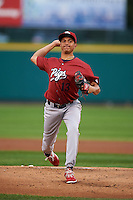 Lehigh Valley IronPigs pitcher Severino Gonzalez (13) delivers a warmup pitch during a game against the Rochester Red Wings on May 15, 2015 at Frontier Field in Rochester, New York.  Rochester defeated Lehigh Valley 5-4.  (Mike Janes/Four Seam Images)