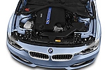 Car Stock 2014 BMW SERIES 3 Sport 4 Door Sedan 2WD Engine high angle detail view