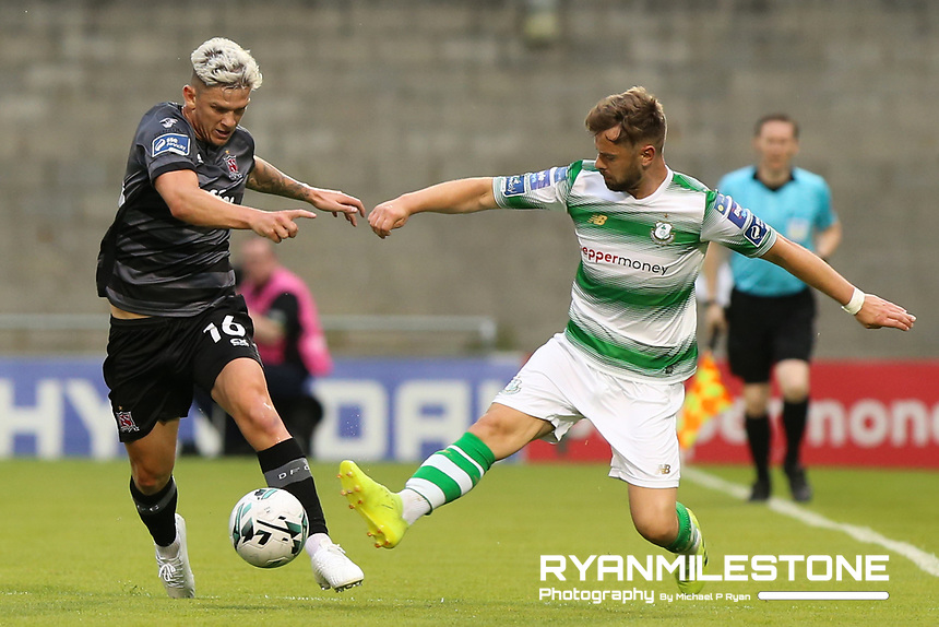 SSE Airtricity League Premier Division<br /> Shamrock Rovers vs Dundalk<br /> Friday 28th June 2019,<br /> Tallaght Stadium, Dublin<br /> <br /> Sean Murray of Dundalk in action against Greg Bolger of Shamrock Rovers<br /> <br /> Mandatory Credit: Michael P Ryan