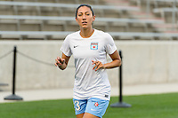 Chicago, IL - Saturday Sept. 24, 2016: Christen Press prior to a regular season National Women's Soccer League (NWSL) match between the Chicago Red Stars and the Washington Spirit at Toyota Park.