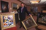 Richard Green  Art dealer in his Fine Old Masters Bond Street gallery London 1990s