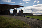 Arbroath 0 Edinburgh City 1, 15/03/2017. Gayfield Park, SPFL League 2. Home fans watching the action during the first-half at Gayfield Park as Arbroath hosted Edinburgh City (in yellow) in an SPFL League 2 fixture. The newly-promoted side from the Capital were looking to secure their place in SPFL League 2 after promotion from the Lowland League the previous season. They won the match 1-0 with an injury time goal watched by 775 spectators to keep them 4 points clear of bottom spot with three further games to play. Photo by Colin McPherson.