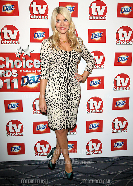 Holly Willoughby arriving for the 2011 TVChoice Awards, at The Savoy, London. 13/09/2011 Picture by: Alexandra Glen / Featureflash