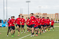 FRISCO, TX - March 27, 2016: The US U-23 Men's National team training day for the upcoming Columbia match at the Toyota Soccer Center.