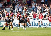 29th May 2021; Twickenham Stoop, London, England; English Premiership Rugby, Harlequins versus Bath; Danny Care of Harlequins thanking the fans