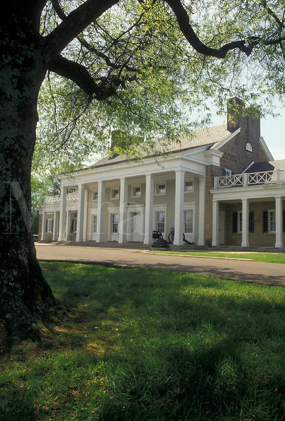 AJ4140, Chickamauga, Civil War, Chickamauga and Chattanooga National Military Park, Georgia, Antebellum mansion at Chickamauga and Chattanooga Nat'l Military Park in the state of Georgia.