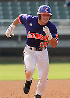 October 25, 2009: Addison Johnson of the Clemson Tigers in an intra-squad Orange and Purple scrimmage game at the end of fall practice at Doug Kingsmore Stadium in Clemson, S.C. Photo by: Tom Priddy/Four Seam Images