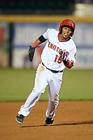 Harrisburg Senators second baseman Khayyan Norfork (15) running the bases during a game against the Bowie Baysox on May 16, 2017 at FNB Field in Harrisburg, Pennsylvania.  Bowie defeated Harrisburg 6-4.  (Mike Janes/Four Seam Images)