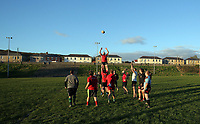 FAO STEWART HUNTER, DAILY MAIL SPORTS PICTURE DESK<br /> Pictured: Players train at Amman United RFC in Cwmamman, Wales, UK. Thursday 13 April 2017<br /> Re: Former Wales international rugby player Shane Williams is to make another comeback as part of the Amman United team that contests a final at the Principality Stadium in Cardiff on Saturday.<br /> 40 year old Williams, Wales' record try scorer has been named in his local village side that will take on Caerphilly in the National Bowl final, having recovered from a fractured jaw in the semi-final win against Cardigan after almost five years since Williams last played for the Barbarians against Wales.<br /> He retired from the Test scene after a defeat to Australia in 2011, immediately after Wales had reached the semi-final of the World Cup of that year.