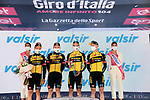 Team Jumbo-Visma get the team award at the end of Stage 2 of the 2021 Giro d'Italia, running 179km from Stupinigi (Nichelino) to Novara, Italy. 9th May 2021.  <br /> Picture: LaPresse/Gian Mattia D'Alberto | Cyclefile<br /> <br /> All photos usage must carry mandatory copyright credit (© Cyclefile | LaPresse/Gian Mattia D'Alberto)