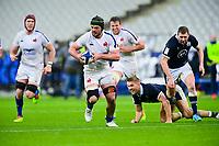 26th March 2021, Stade de France, Saint-Denis, France; Guinness 6-Nations international rugby, France versus Scotland;  Gregory Alldritt (Fra) breaks tackles