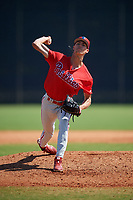 Philadelphia Phillies Tyler McKay (6) during a Minor League Spring Training game against the New York Yankees on March 23, 2019 at the New York Yankees Minor League Complex in Tampa, Florida.  (Mike Janes/Four Seam Images)