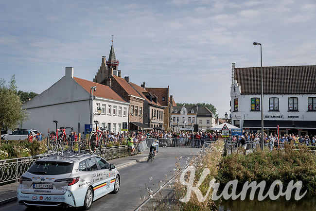 Sara Van de Vel (BEL/Team Rupelcleaning)<br /> <br /> 88th UCI Road World Championships 2021 – ITT (WC)<br /> Women Elite Time trial from Knokke-Heist to Brugge (30.3km)<br /> <br /> ©Kramon